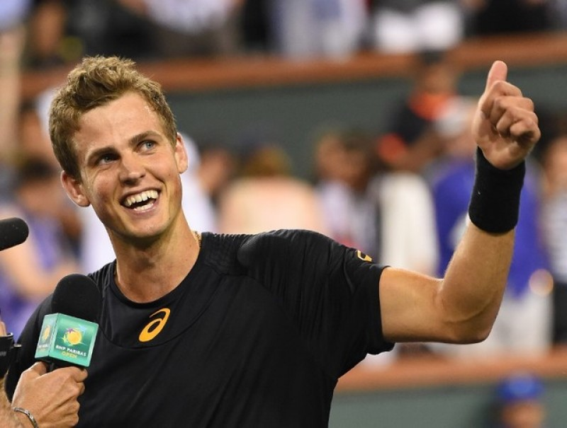 Pospisil sends Murray packing at Indian Wells
