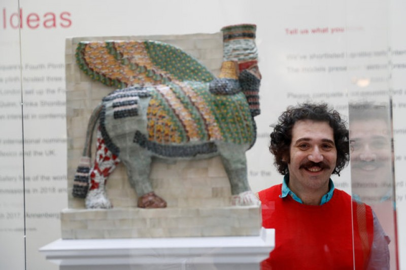 Destroyed by Islamic State, ancient winged bull to rise again in London