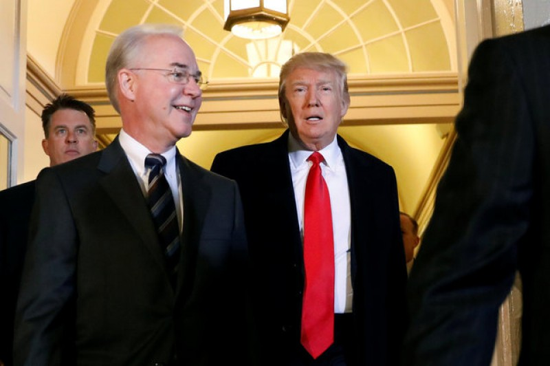 Trump seeks backing of Republican lawmakers in latest healthcare push
