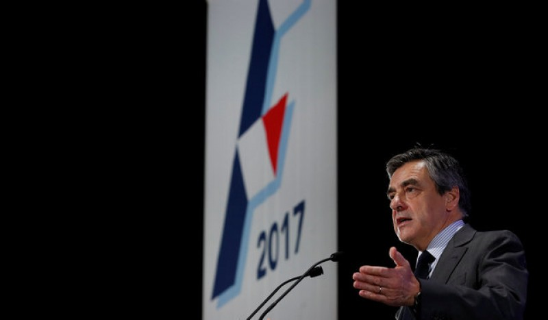 Fillon camp decries 'soap opera' of sleaze reports a month from French election