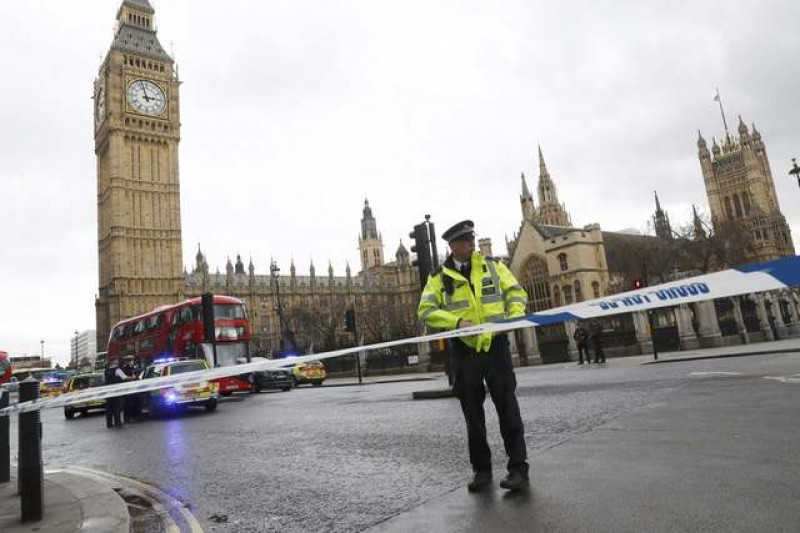 Assailant shot, policeman stabbed and several injured in parliament incident