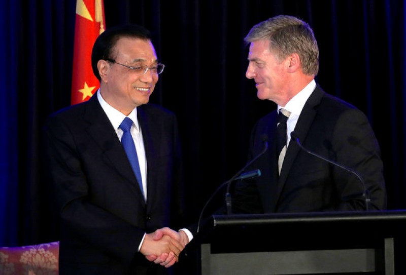China and New Zealand agree to boost already-close trade ties
