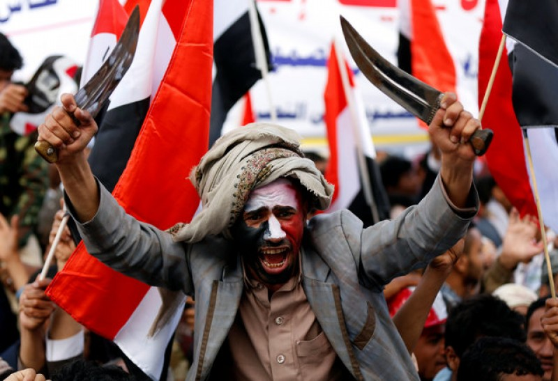 Thousands of Yemenis rally in Sanaa on war's second anniversary