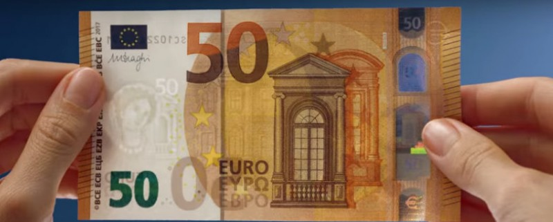 New 50-euro notes come into circulation on Tuesday