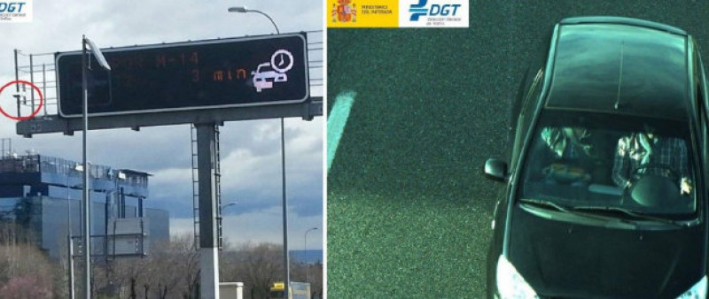 Seat belt cameras come into operation as the Spanish begin Easter weekend