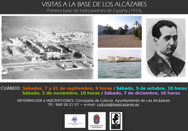 <span style='color:#780948'>ARCHIVED</span> - 5th October, Free guided visits to the Los Alcázares hydroplane base