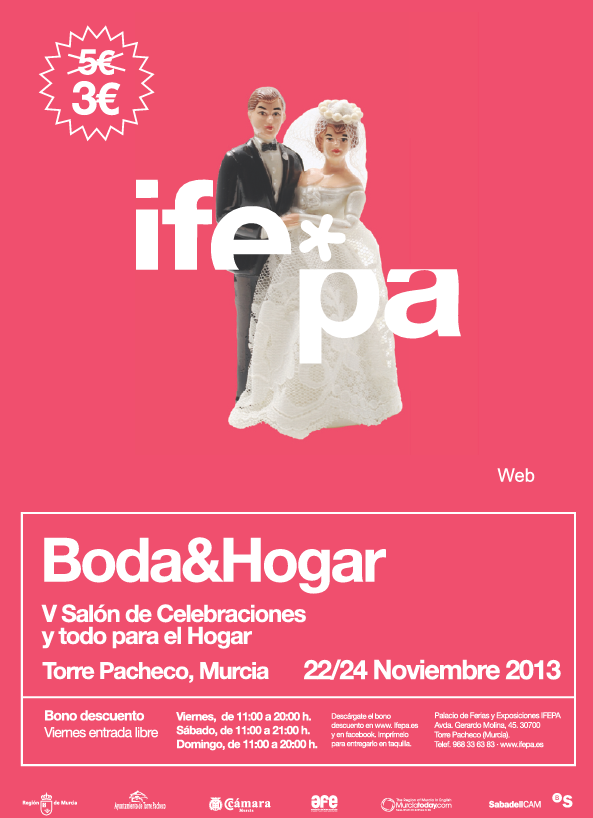 <span style='color:#780948'>ARCHIVED</span> - 22nd to 24th November, Weddings and Homes fair Torre Pacheco
