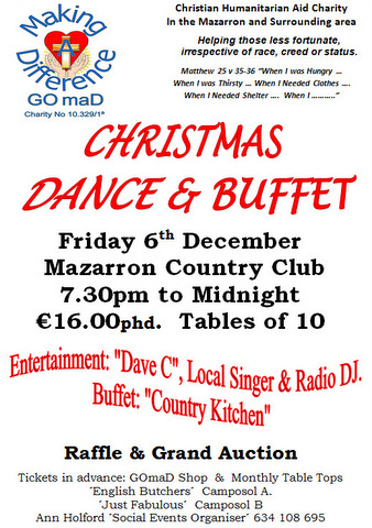 <span style='color:#780948'>ARCHIVED</span> - 6th December, GOmaD Christmas Dance and Buffet