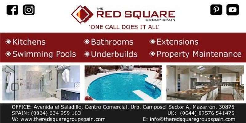 The Red Square Group Spain, for all building, construction and property maintenance covering Murcia areas.