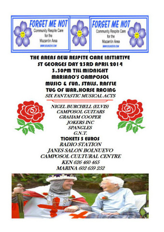<span style='color:#780948'>ARCHIVED</span> - 23rd April, Forget Me Not Saint Georges Day party