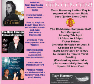 <span style='color:#780948'>ARCHIVED</span> - 6th April, Ladies day at The Club House Camposol