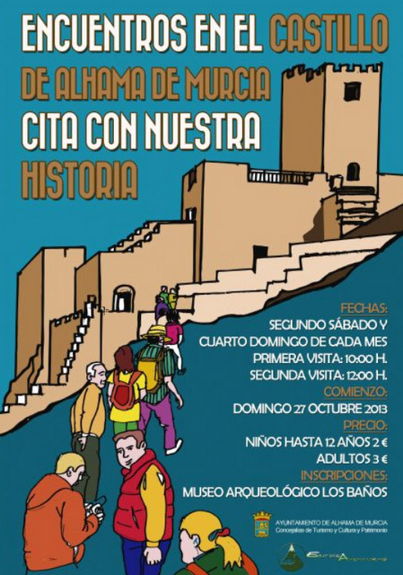 <span style='color:#780948'>ARCHIVED</span> - 12th April, Guided tours of Alhama de Murcia castle