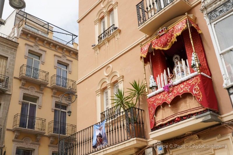 Justified win for best dressed Semana Santa balcony in Cartagena