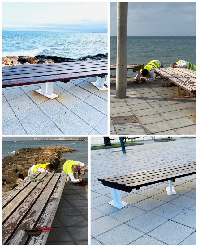 <span style='color:#780948'>ARCHIVED</span> - Improvements continue on beach promenades and benches in Torrevieja