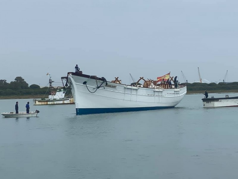 The Pascual Flores sails again; Torrevieja replica restored by the Nao Victoria Foundation