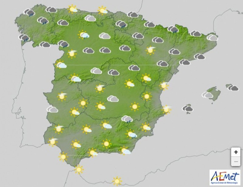 <span style='color:#780948'>ARCHIVED</span> - Unstable conditions return to much of Spain this week: rain, thunderstorms and changeable weather