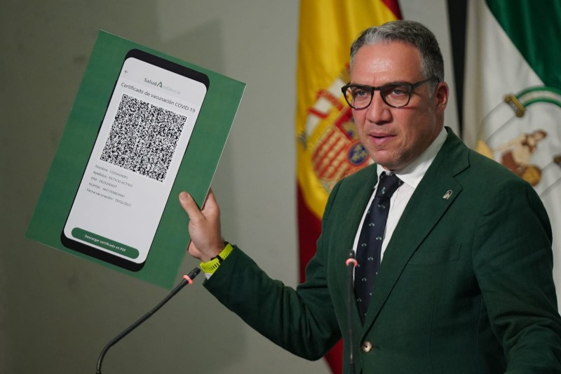 <span style='color:#780948'>ARCHIVED</span> - Vaccine passport holders could soon be allowed free movement within Andalusia
