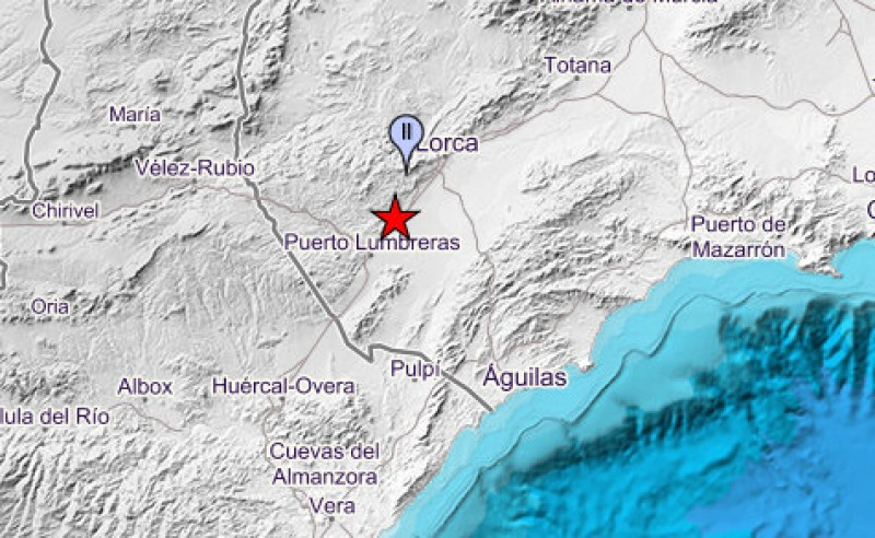<span style='color:#780948'>ARCHIVED</span> - Minor earthquake between Lorca and Puerto Lumbreras