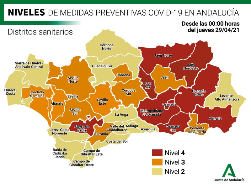 <span style='color:#780948'>ARCHIVED</span> - 94 towns and villages in Andalusia remain confined as free movement between provinces begins