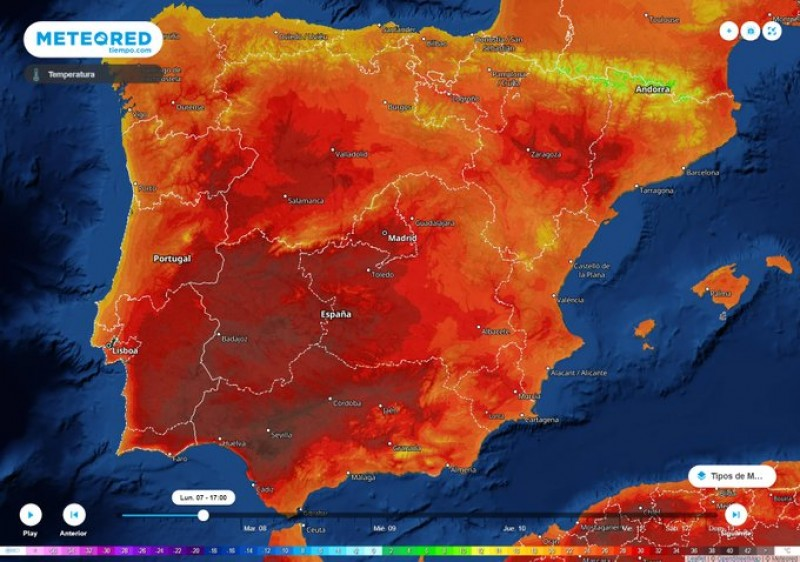 Spain to swelter in temperatures of up to 40 degrees Celsius this week