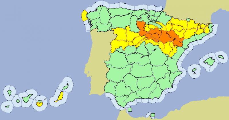 <span style='color:#780948'>ARCHIVED</span> - Heavy rains and storms in Spain this weekend yet temperatures will be over 35 degrees in many areas