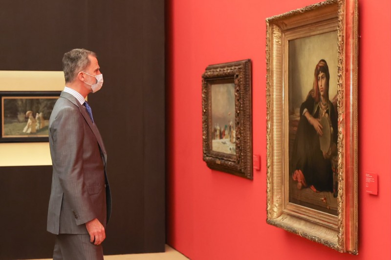 Spanish Royals open new exhibition at the Alhambra in Granada