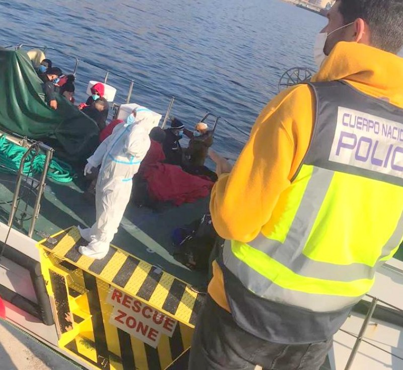 <span style='color:#780948'>ARCHIVED</span> - 132 irregular migrants intercepted in Almeria as warm weather encourages crossings