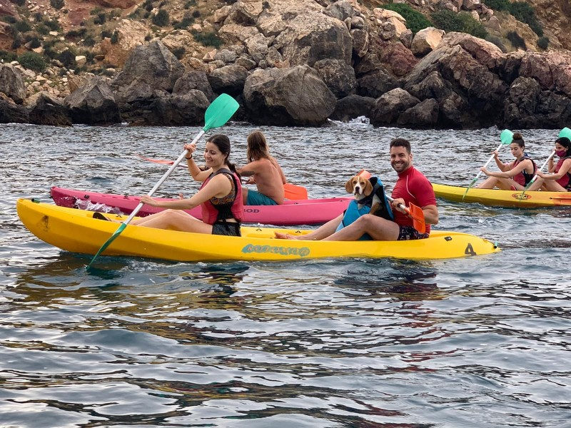 <span style='color:#780948'>ARCHIVED</span> - First Canine Kayaking event in Mazarron a big success