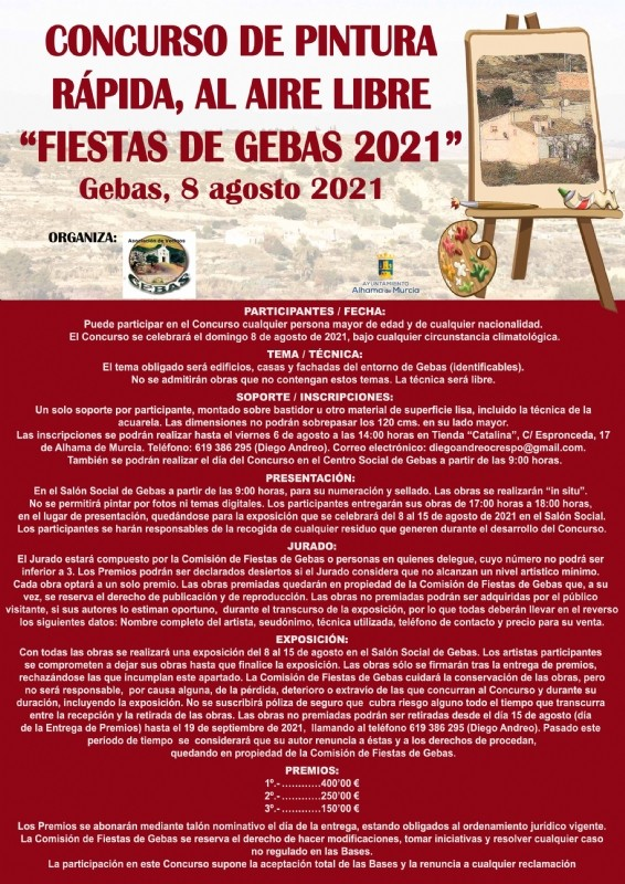 <span style='color:#780948'>ARCHIVED</span> - Open air speed painting competition at Gebas in Alhama de Murcia, August 8