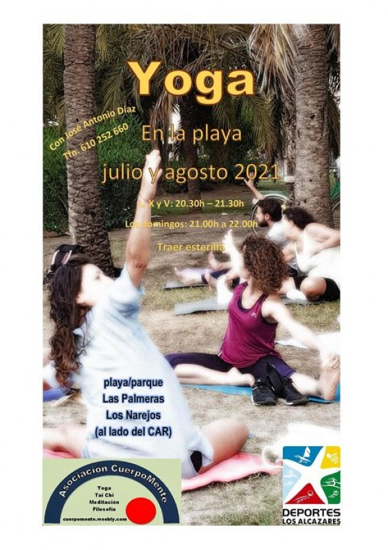 <span style='color:#780948'>ARCHIVED</span> - Yoga on the beach Monday, Wednesday, Friday and Sundays in Los Alcázares