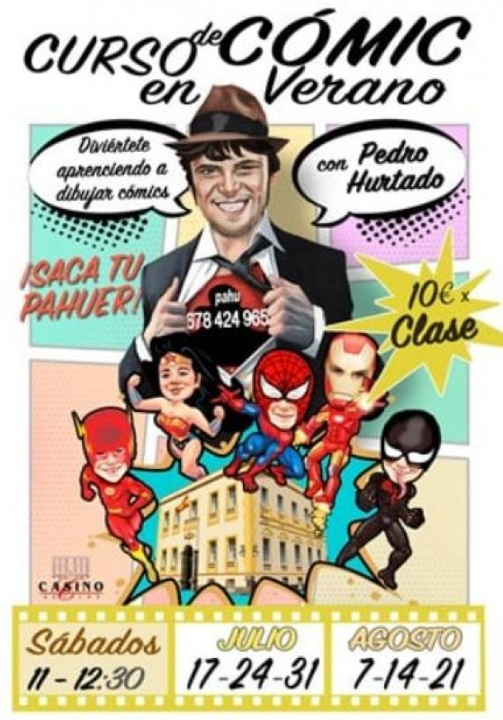 <span style='color:#780948'>ARCHIVED</span> - Comic book drawing classes at Aguilas Casino this summer