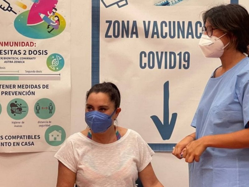 Over half the population of Spain are fully vaccinated against Covid