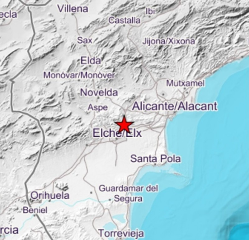 <span style='color:#780948'>ARCHIVED</span> - Elche shaken by minor earthquake felt 20 km away