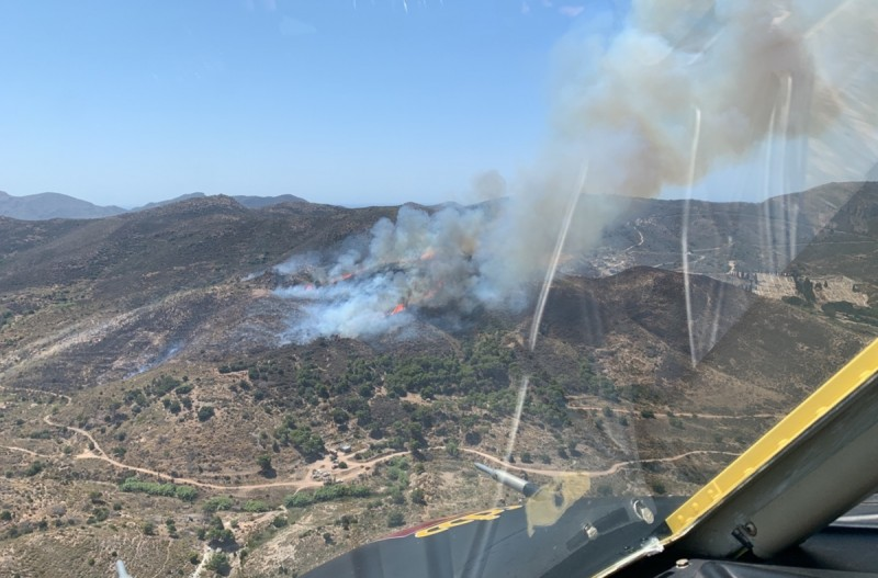 <span style='color:#780948'>ARCHIVED</span> - First major scrubland fire of the year behind Santa Lucía Hospital in Cartagena