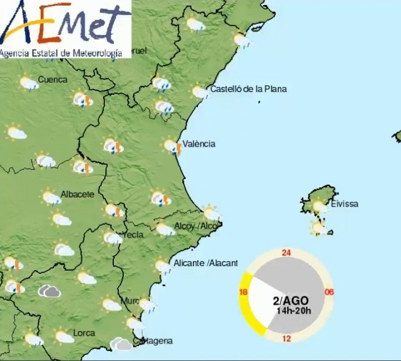 <span style='color:#780948'>ARCHIVED</span> - Showers and drop in temperatures forecast in Alicante