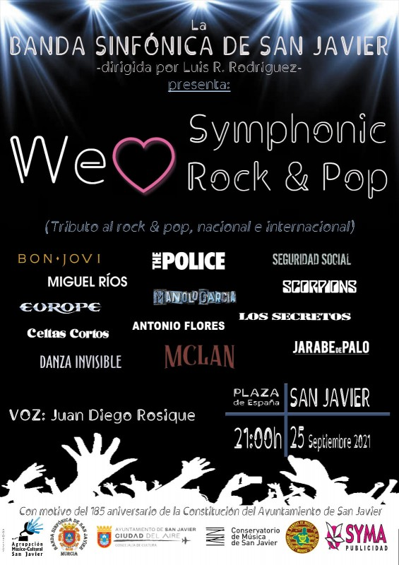 <span style='color:#780948'>ARCHIVED</span> - Free symphonic pop and rock music tribute in San Javier: September 25