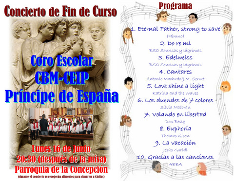 <span style='color:#780948'>ARCHIVED</span> - 16th June, end of course choral concert, Alhama de Murcia