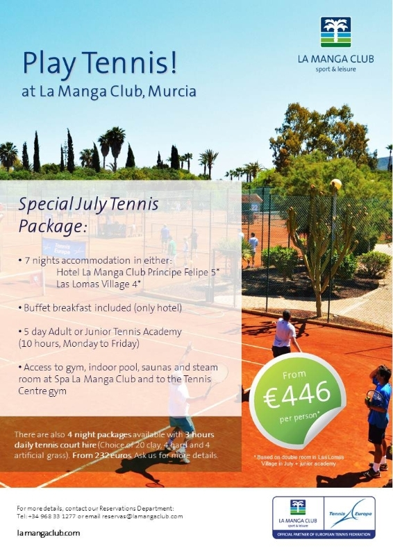<span style='color:#780948'>ARCHIVED</span> - Play Tennis at La Manga Club Murcia