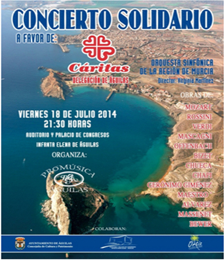 <span style='color:#780948'>ARCHIVED</span> - 18th July, orchestral music at the Auditorio Infanta Elena in Águilas