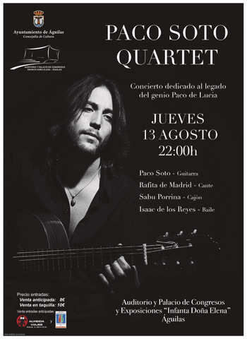 <span style='color:#780948'>ARCHIVED</span> - 13th August Flamenco guitar in Aguilas