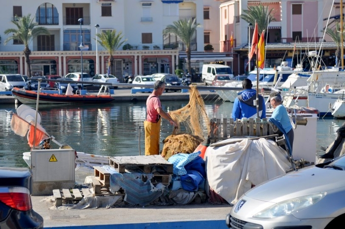 The fishing port and leisure marina of Cabo de Palos