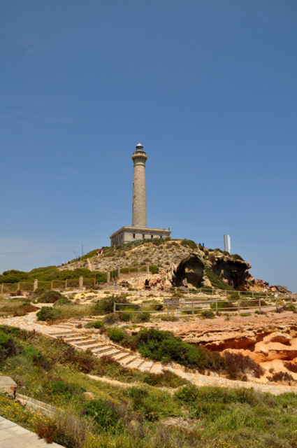 Cabo de Palos, visiting the lighthouse and marina area, a great ride out for bikers